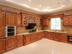 萨博整体厨房家居定制实木欧式古典橱柜《凡尔赛宫》