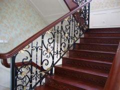 欧式别墅铁艺楼梯设计-百姓园楼梯