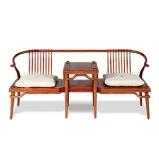 荣麟京瓷新中式家具西施靠双人沙发图片