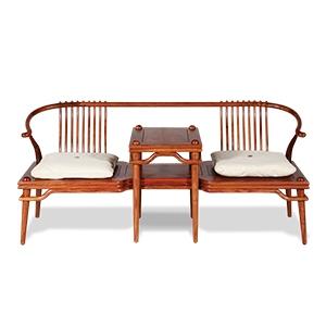 荣麟京瓷新中式家具西施靠双人沙发