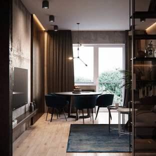 混搭风格三居室装修效果图