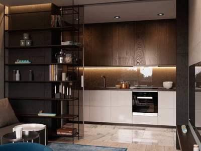 混搭风格-110平米三居室装修样板间