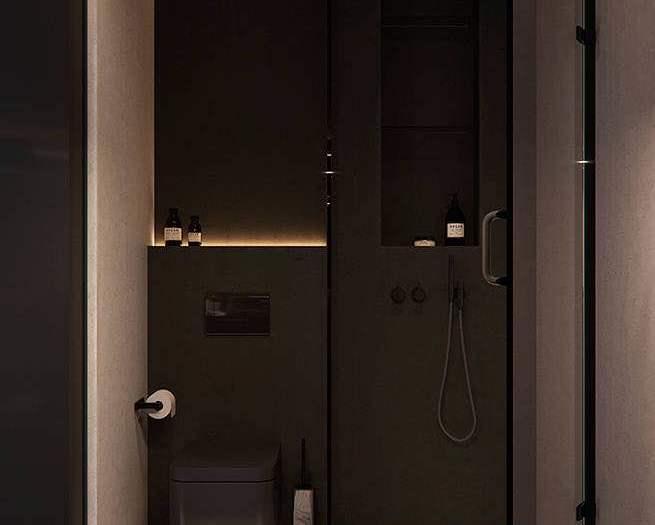 混搭风格-110平米三居室-装修样板间