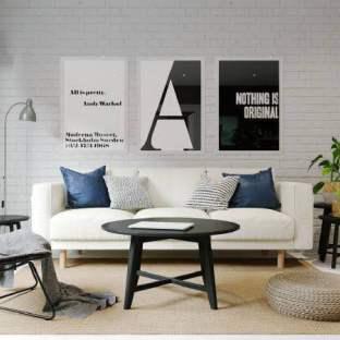 欧美风情三居室装修效果图