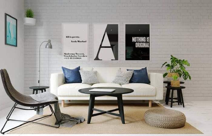 欧美风情-120平米三居室-装修样板间