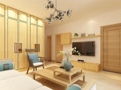 东南亚风格-81平米二居室装修样板间