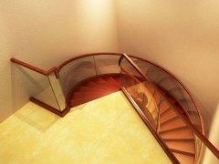 现代简约玻璃楼梯定制-百姓园楼梯