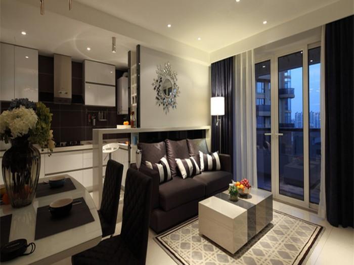 现代简约-8平米二居室-装修样板间