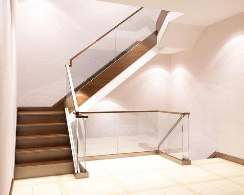 时尚玻璃楼梯定制-百姓园楼梯