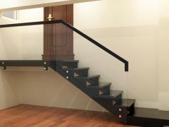 现代简约玻璃楼梯订做-百姓园楼梯