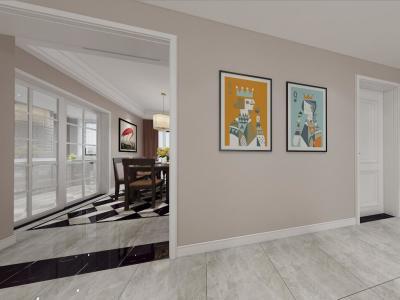 混搭风格-130平米四居室装修样板间
