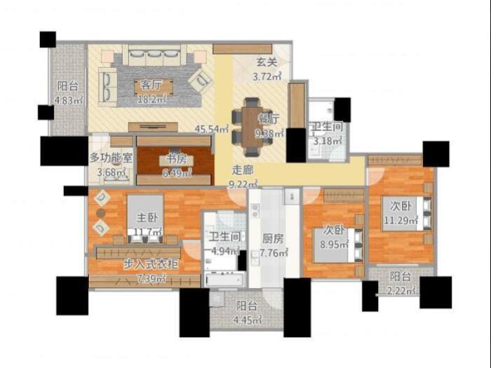 西式古典-169平米三居室-装修样板间