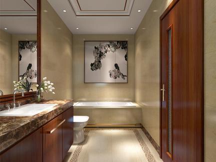 中式风格-120平米三居室-装修样板间