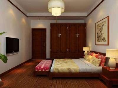 中式风格-120平米三居室装修样板间