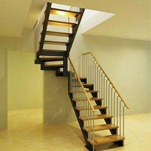 家用钢木楼梯定制-百姓园楼梯