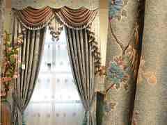 豪华提花欧式客厅窗帘