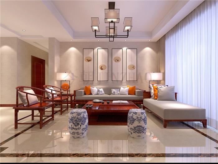 中式风格-158平米四居室-装修样板间