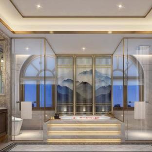 新中式五居室卫生间装修效果图