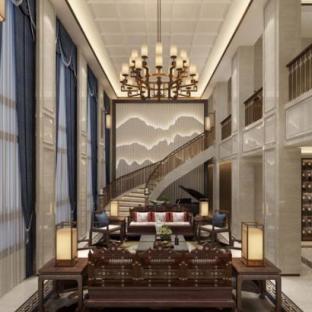新中式五居室装修效果图