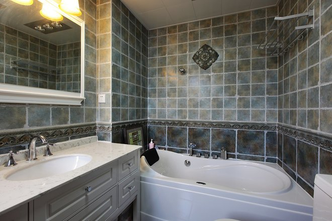 欧美风情-90平米三居室-装修样板间
