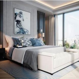 新中式三居室卧室装修效果图