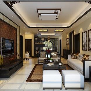 新中式风三居室装修效果图