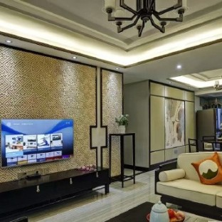中式古典三居室装修效果图