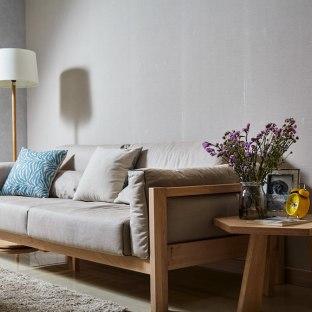日韩风格二居室客厅装修效果图