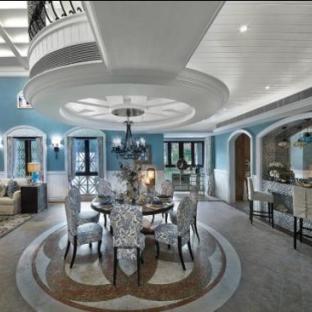 地中海风格四居室餐厅装修效果图