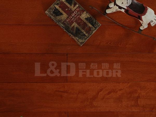 LS-H002 桦木 浅红色 实木地板