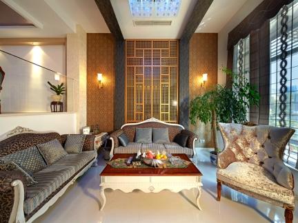 300平别墅经典之作 新中式风格个性家装