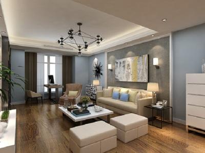欧美风情-160平米四居室装修样板间
