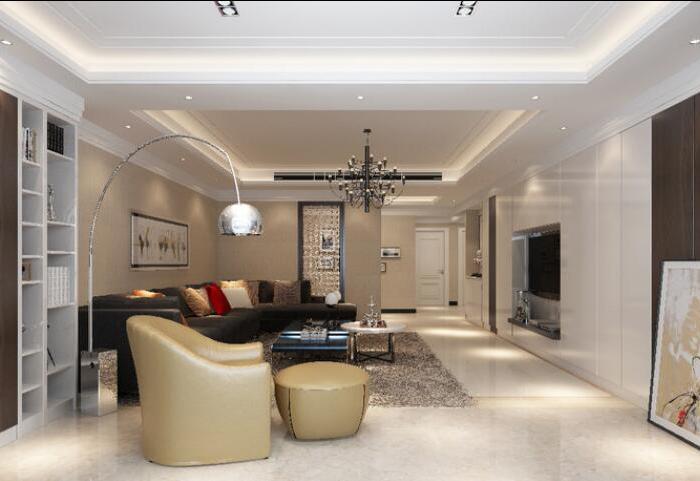 现代简约-150平米四居室-装修样板间