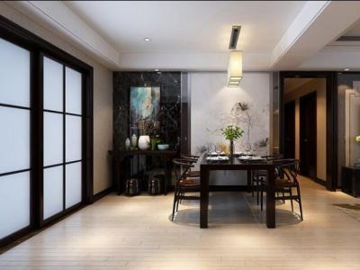 中式风格-130平米三居室装修样板间
