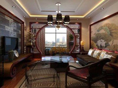 中式古典-134平米四居室装修样板间