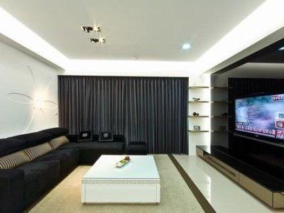 日韩风格-137平米四居室装修样板间