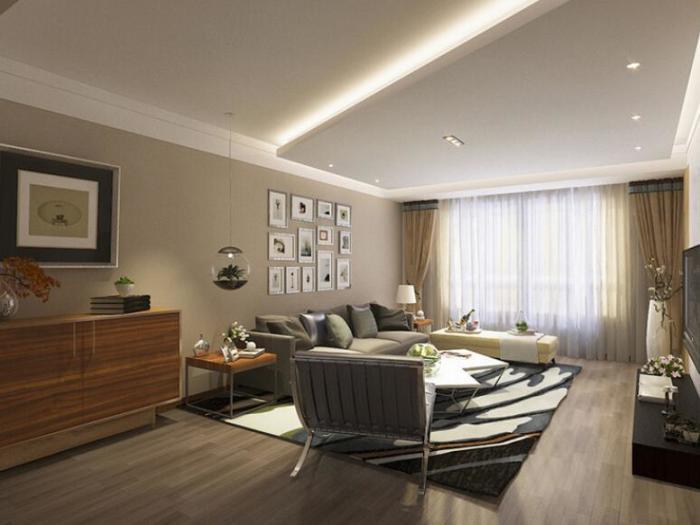 现代简约-160平米三居室-装修设计