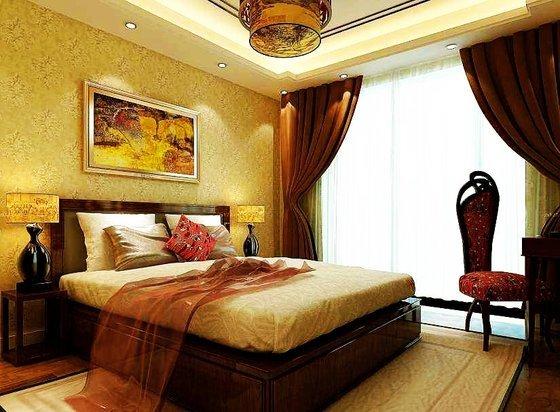 中式古典-138平米三居室-装修样板间