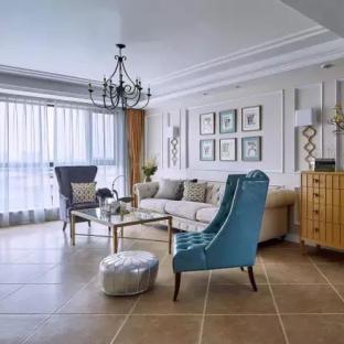 简约美式风格四居室客厅装修效果图