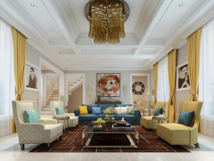 新古典风格-470平米别墅-装修样板间