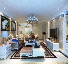 幸福时代2室1厅90平欧式风格