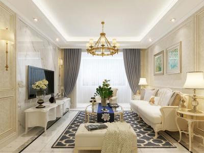 欧式风格-110平米一居室装修样板间