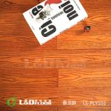 零点LS-PLY103 番龙眼 柚木色 实木地板图片