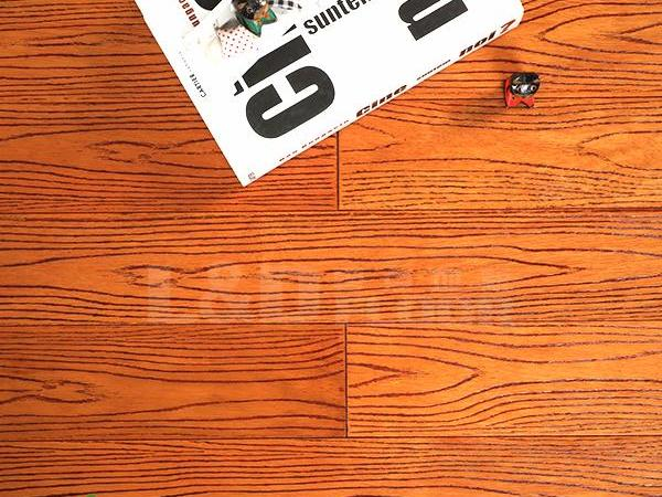 零点LS-PLY103 番龙眼 柚木色 实木地板