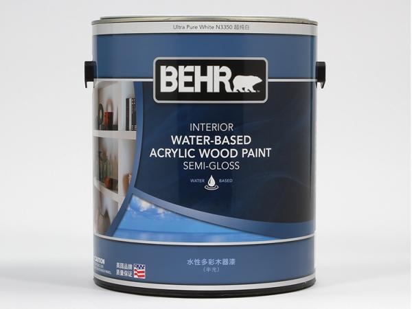 百色熊室内水性多彩木器漆半光 1加仑