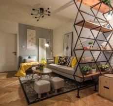 葛洲坝国际广场北欧风格二居室98平