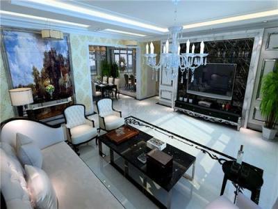 新古典风格-139平米四居室装修样板间