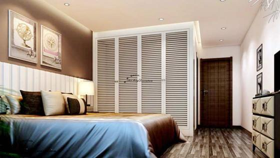 现代简约-95平米三居室-装修样板间