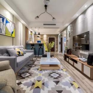 轻工业风格二居室装修效果图