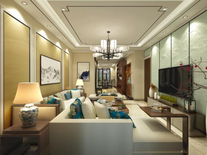 中式古典-185.28平米四居室-装修样板间